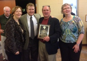 Bob Ludwig with Award